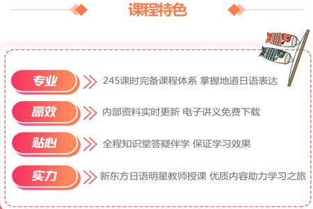 日语全四册课程特色